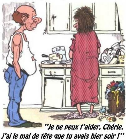Bonne excuse pour la vaisselle