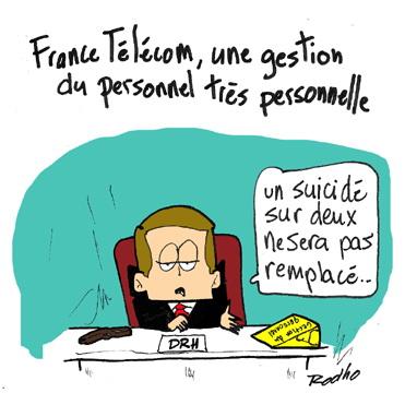 France Télcom : gestion de personnel